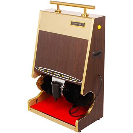 Hotel Commercial Automatic Shoe-Shining Machine Fully Automatic Shoe Polisher with Dusting and Polishing Double Combination Brush for Easy Cleaning and Low Noise