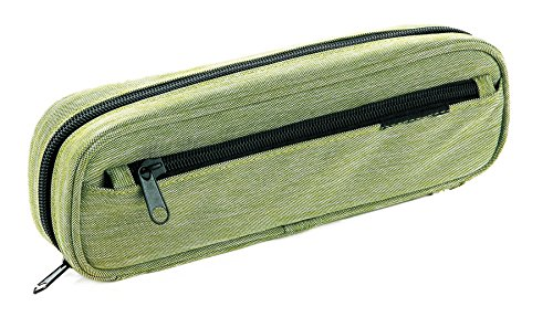 Idena 20035 - Stifte-Etui, Federtasche mit Seitenfach, grün