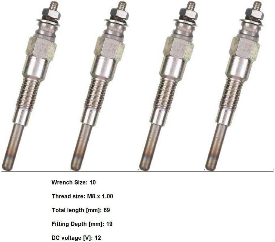 WHD New Glow Plug Set Spring new work 2021new shipping free V1505 Fits Kubota of 4