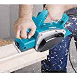 Goplus Electric Wood Hand Planer, 3-1/4-Inch 1000W 16,000Rpm Power Planer Hand Held, Woodworking Electric Door Planer