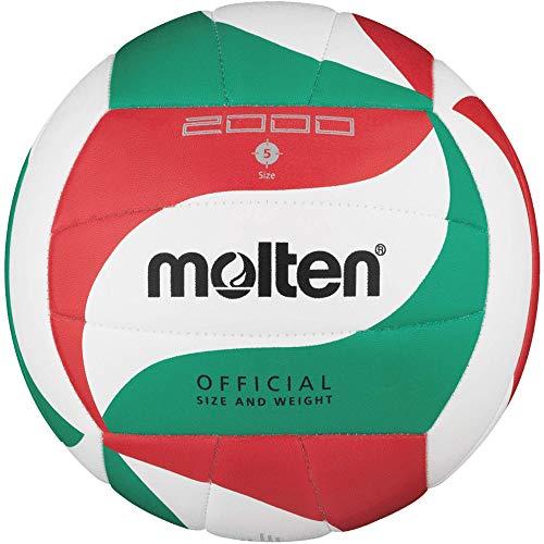 Molten Top Training Volleyball Gr. 5 Schildkröt Fitness Pilatesball, Ø28cm, Yoga Ball, Mini Gymnastikball, Übungsball, Fitnessball, 960133, Weiß/Grün/Rot, 5