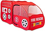 Fire Truck Tent for Kids Toddlers Boys & Girls - Red Fire Engine Pop Up Pretend Playhouse for Indoors & Outdoors - Quick Set Up Weather Proof Fabric Foldable & Spacious – Great Gift Idea