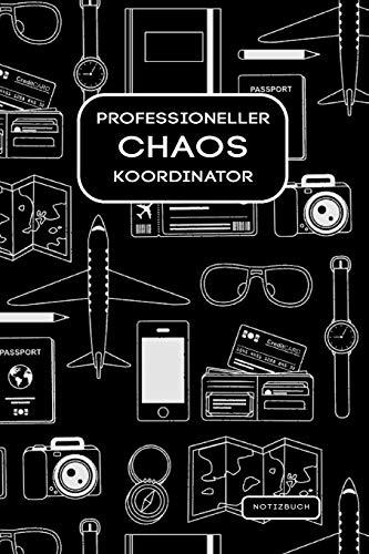 Professioneller Chaos Koordinator: 2In1 To Do Listen Planer Mit Checklisten & Notizbuch Liniert. Mit Lustigem Spruch Ideal Als Witziges Geschenk Für Kollegen Und Freunde