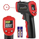 Digital Laser Infrared Thermometer Cooking Gun Handheld Temp Gun with Alarm Function, Non-Human Laser IR Thermometer for Kitchen,BBQ, Objects, Water & Industrial, -58℉~1112℉