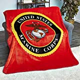 The Lakeside Collection 60x80' Plush Military Throws-Marines