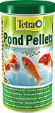Tetra Pond Pellets – Hauptfutter für alle Teichfische, schwimmfähige Futter Pellets für die tägliche Fütterung, 1 L Dose