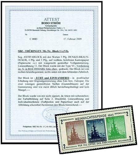 Goldhahn SBZ Block 1x postfrischmit Fotoattest Str - Briefürken für Sammler