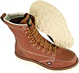 """Thorogood Men's 814-4201 American Heritage 8"""" Moc Toe, MAXwear Wedge Non-Safety Toe Boot, Tobacco Oil-Tanned - 10.5 D US"""