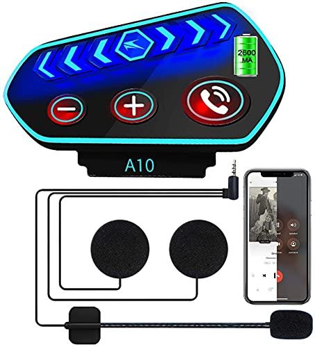 casco moto wireless Cuffie Bluetooth per Casco Moto- Caschi Auricolare Vivavoce Cuffie per Controllo Chiamata
