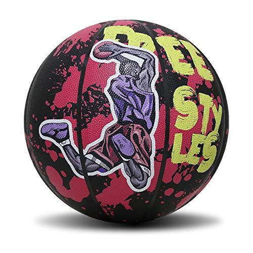 Best Deals! Pangpe Graffiti No.7 Hygroscopic Street Basketball (Red, 7)