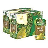Happy Baby Organic Clearly Crafted Stage 2 Baby Food Pears, Kale & Spinach, 4 Ounce Pouch ...