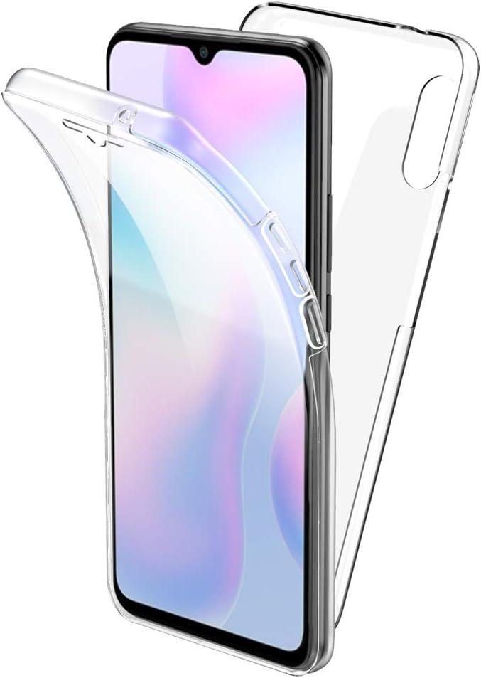 All Do Funda para Xiaomi Redmi 9A, 360 Grados Protección Diseñada, Transparente Ultrafino Silicona TPU Frente y PC Back Carcasa Belleza Original Funda de Doble Protección - Transparente