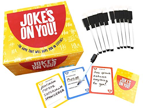 Jokes On You: Funny Family Party Game - Mad-Lib Word Play - Funny and Hilarious - Creative and Witty Party Game