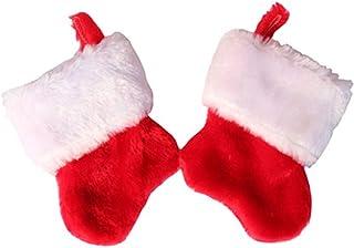 ADKY, ADKYCalcetines navideños Calcetines de felpa Bolsa de dulces navideños Decoración de árboles de Navidad Calcetines decorativos de Navidad (paquete de dos)