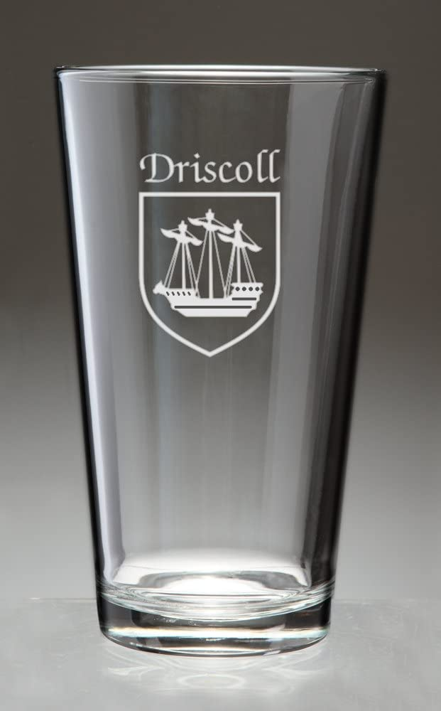 Driscoll Irish Coat of Arms Pint Sand - shipfree Glasses Etched 4 Max 78% OFF Set