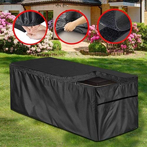 wangza Garten Auflagenbox Kissenbox Cover Patio Deck Box Abdeckung mit Reißverschluss UV-Schutz Outdoor Wasserdicht UV-Schutz für große Deck Boxen Schutz