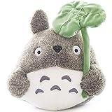 45cm/ 17.71 inch Totoro Plush Doll Plush Animal Toy Throw Pillow Decorative Holiday Birthday Kid Girlfriend Gift (Lotus Leaf, 45cm/ 17.71 inch )