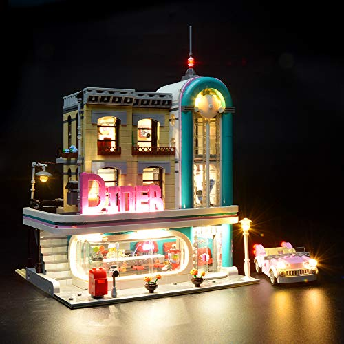 BRIKSMAX Led Beleuchtungsset für Amerikanisches Diner, Kompatibel Mit Lego 10260 Bausteinen Modell - Ohne Lego Set