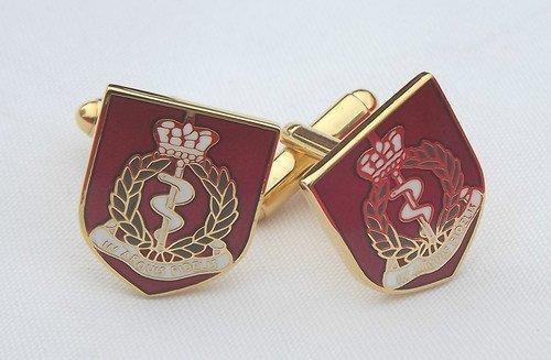 R.A énoncées Royal militaire armée Medical Corps émail Boutons de manchette