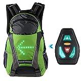 GYFHMY LED Blinker Licht Rucksack - 18L Fahrradrucksack mit Fernbedienung, USB-Aufladung -...