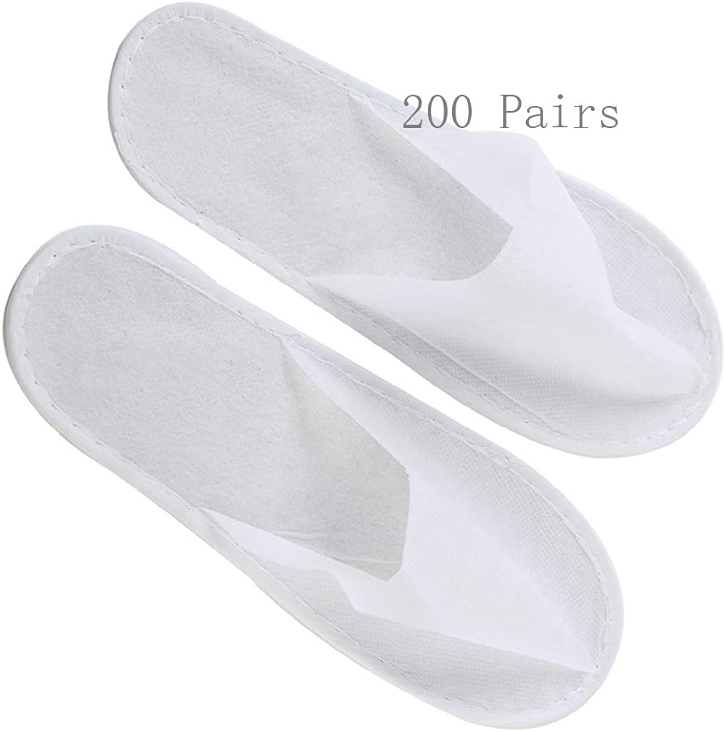 Slippers Women and Men Disposable Portable Hotel Slippers Women's Disposable Slippers Women's Slippers 200 Double Hotel Spa Beauty Club Slippers Non-Woven Men's Slim Sole Spa-