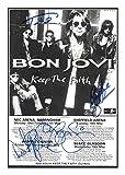 Bon Jovi Signiert Autogramme 21cm x 29.7cm Plakat Foto