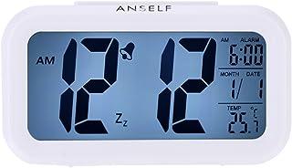 comprar comparacion LED Digital Alarma despertador,Anself Reloj Repeticion activada por luz Snooze Sensor de luz Tiempo Fecha Temperatura (Bla...