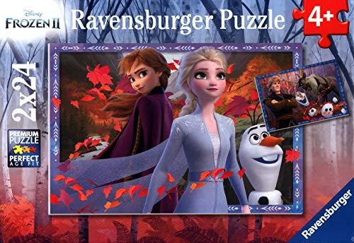 Ravensburger Kinderpuzzle 05010 - Frostige Abenteuer - 2 x 24 Teile