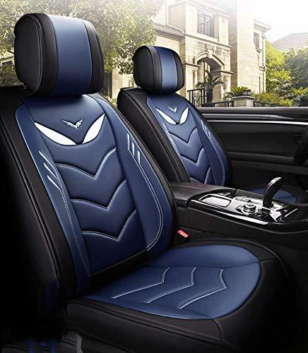 Fundas 5 asientos automóvil transpirables aptos para la mayoría los SUV Sedan Truck Muy bien equipados para 2018 Chevy Equinox Cruze 2019 Toyota Tacoma TRD PRO doble cabina RAV4 Corolla Camry, azul