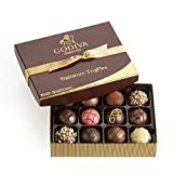 Godiva Chocolatier Assorted Chocolate Truffles Gift Box, Gold Ribbon, 12-Pieces, 8.3 Ounce