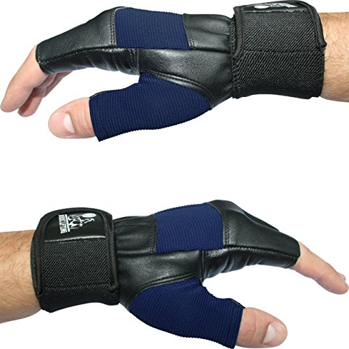 Weight Lifting Gloves With 12' Wrist Support For Gym Workout, Crossfit, Weightlifting, Fitness & Cross Training - The Best For Men & Women - Nordic Lifting™ Premium Quality Gear & Equipment - Use Gloves, Hooks, Wraps & Straps to Avoid Injury During Powerlifting - 1 Year Warranty (Blue, L)