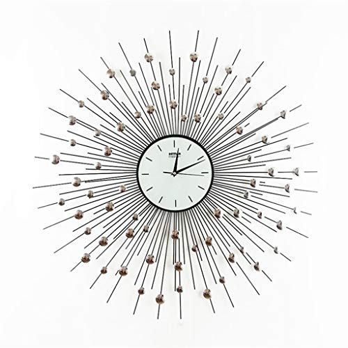 YVX Estilo Minimalista Moderno Dormitorio Sala de Estar Reloj de Pared Moda Creativa Personalidad Dormitorio Silencio Reloj de Pared Moderno Reloj Reloj de Pared Montado en la Pared - 80 cm