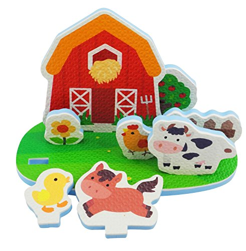 Bieco 19009512 - Badewannen Spielset Bauernhof, 9 teilig