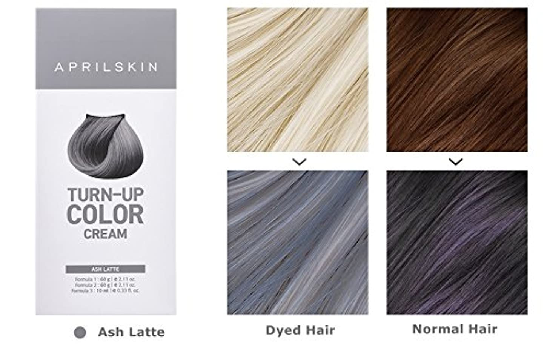 超高層ビルまさに責めApril Skin Turn Up Color Cream Long lasting Texture Type Hair Dye エイプリルスキン ターンアップカラークリーム長持ちテクスチャタイプヘアダイ (紅)