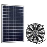 Pumplus Solar Powered Attic Fan System, Ventilator Gable Roof Vent Fan+50W Solar Panel, for Chicken Coop/Attic/Greenhouse(Delivery in 2 Packages)