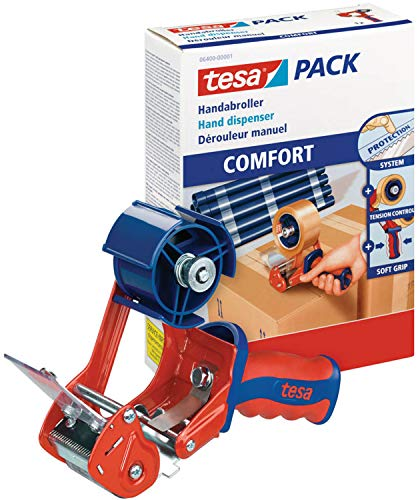 tesa 6400 Packband Handabroller Comfort | Packbandabroller | Klebebandabroller, Menge:1