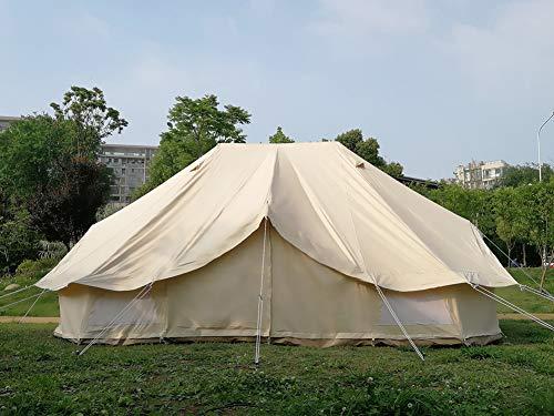 Emperor Bell Zelt 6 x 4 Meter Baumwolle Leinwand Familienzelt Glamping Camping Zelt mit abnehmbarem Boden