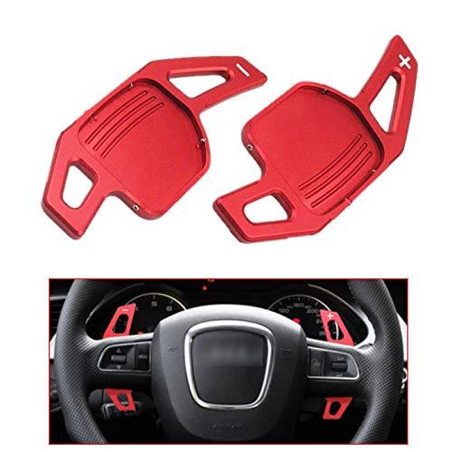 Padillas de cambio Red Car Rueda de la extensión Cambio de extensión Cambio de aluminio Padillas de cambio para Audi A3 S3 A4 S4 B8 A5 S5 A6 S6 A8 Q5 Q7 TT DSG