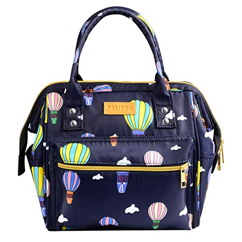 Palibon Insulated Cute Lunch Bag for Kids Women Girls Stylish Purse Shape Insulated Cooler Bag Lunch Box Reusable Lunch Tote Bag with Adjustable Shoulder Strap
