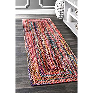 "nuLOOM MGNM04A Handmade Bohemian Tammara Cotton Runner Rug, 2' 6"" x 10', Multi (B079V5RGW6) 