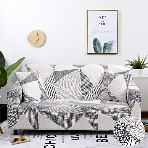 ASCV Funda de sofá Fundas elásticas para Muebles Fundas de sofá elásticas para Sala de Estar Fundas para sillones Sofá Decoración del hogar Tela A5 2 plazas