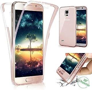 d54b1dfe865 Funda Compatible Samsung Galaxy S5.KunyFond Carcasa Delgado Frontal Trasera  360 Grados Silicona 3 en
