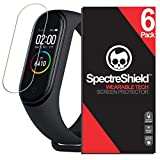 [6-Pack] Spectre Shield Screen Protector for Xiaomi Mi Band 4 Case Friendly Xiaomi Mi Band 4 Screen Protector Accessory TPU Clear Film