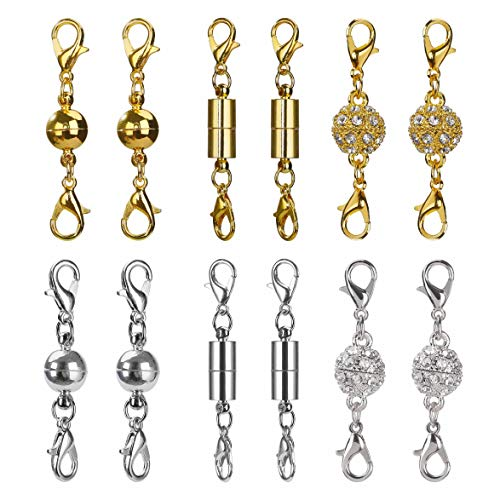5Pcs Ball Cylinder Magnetic Clasps Chain Lobster Hook DIY Craft Jewelry Findings