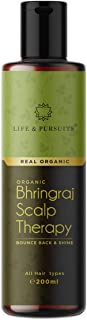 Life & Pursuits USDA Organic Hair Oil For Hair Growth With Bhringraj, Amla, Coconut Oil & Castor Oil | Indian Ayurvedic Dry Scalp Therapy (200 ml/6.76 fl oz)