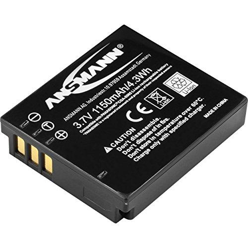ANSMANN Li-Ion Akku A-Pan CGA S005 3,7V / Typ 1020mAh / Leistungsstarke Akku Batterie für Foto Digitalkameras - perfekter externer Akku für Panasonic Digicam uvm.