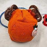 Sayla Chapeaux TricotéS Foulards Conviennent Enfants Caricature Chapeau De Queues De Cochon Mignon, Fille Crochet Aiguille à Tricoter Chapeau Chaud GarçOn
