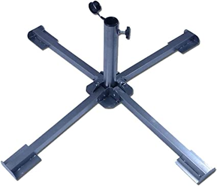 VILOBOS Patio Round Umbrella Base Heavy Duty Holder Garden Parasol Stand Weights