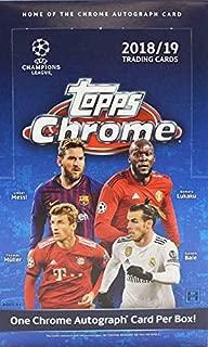 2018/19 (2019) Topps Chrome UEFA Champions League HOBBY Soccer (18 pks/bx)