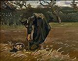FMLKBZ Pintar por Numeros Van Gogh - Mujer Campesina desenterrando Patatas Pintura al óleo de Lienzo por números Decoración de la casa - 40 x 50 cm